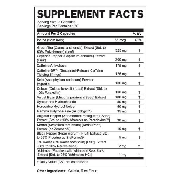 IGNITE SUPPLEMENT FACTS 650 (1)