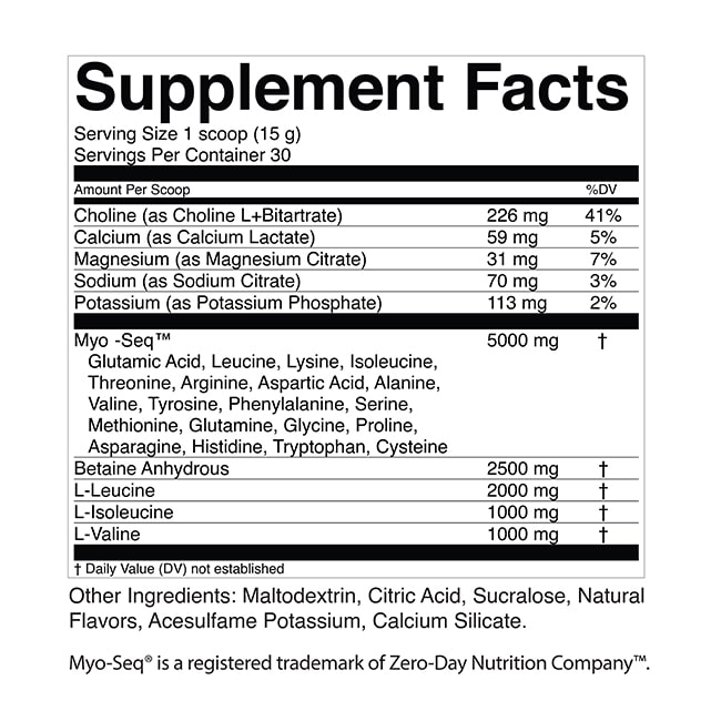 Supplement Facts - EAA